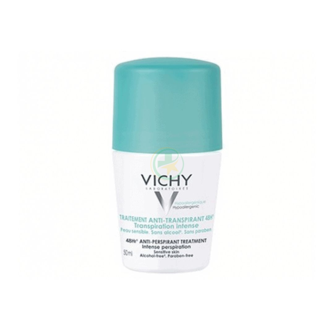 Vichy Deodorante Roll-on Anti-traspirante 48H Traspirazione Intensa 50 ml