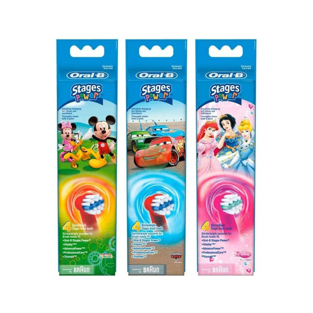 Oral-B Kids Stages Power 3 Testine di Ricambio