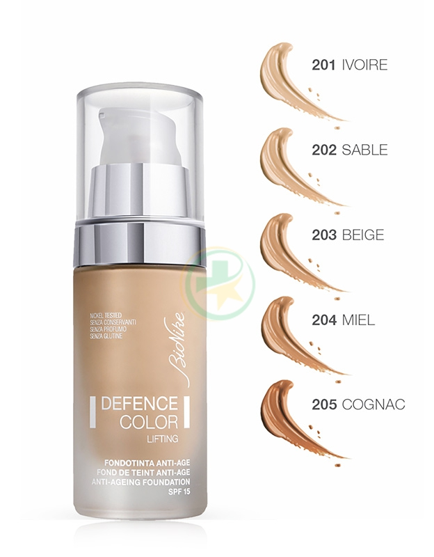 Bionike Defence Color Fondotinta Lifting Anti-Età Levigante 205 Cognac
