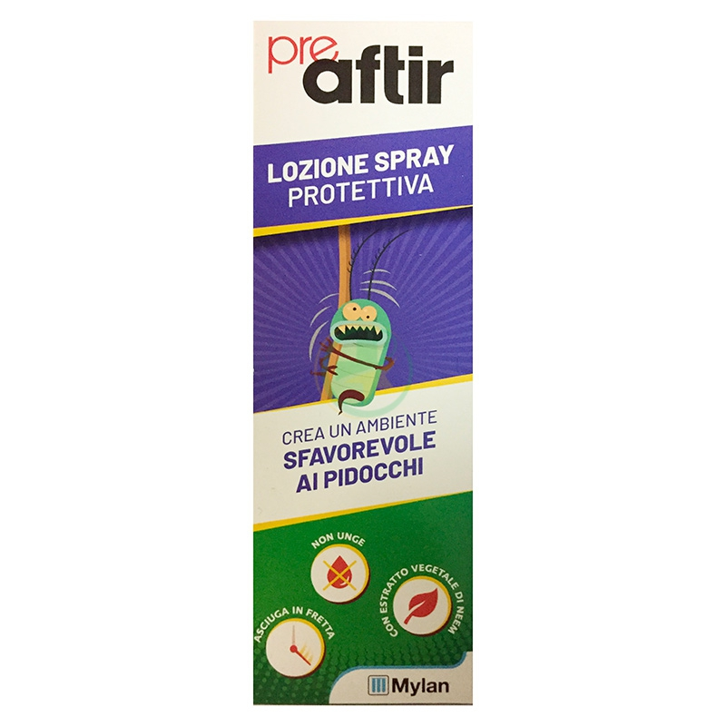 Aftir Linea Anti-Pediculosi Pre Aftir Spray Preventivo Protettivo Delicato 100ml