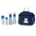 Mustela Beauty Travel Set Bagnetto Millebolle Shampoo Hydra Bebe Viso