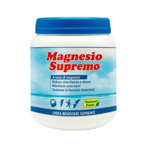 Natural Point Linea Vitamine Minerali Magnesio Supremo Integratore 300 g