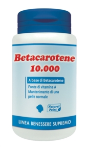 Natural Point Linea Vitamine Minerali Betacarotene 10000 Integratore 80 Perle