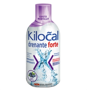 Kilocal Drenante Forte Integratore Alimentare Depurativo Mirtillo 500 ml